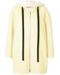 Marni - Hooded Straight Fit Coat - Lyst