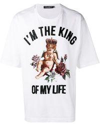Dolce & Gabbana - 'I'm the King' T-Shirt - Lyst