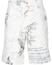 Alexander McQueen - Explorer Print Chino Shorts - Lyst
