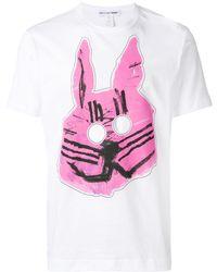 Comme des Garçons T-Shirt mit Bunny-Print