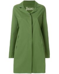 Herno - Single-breasted Flared Coat - Lyst