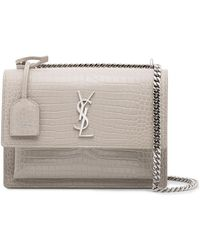Saint Laurent - Ivory Sunset Monogram Bag - Lyst