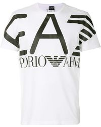 EA7 - Logo Patch T-shirt - Lyst