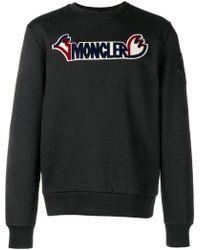 Moncler - Sweatshirt mit Logo-Patch - Lyst