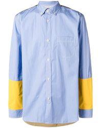Junya Watanabe - Striped Panel Shirt - Lyst