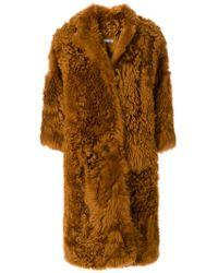 DESA NINETEENSEVENTYTWO - Oversized Fur Coat - Lyst