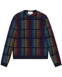 "Gucci - Rainbow "" Hollywood"" Jumper - Lyst"