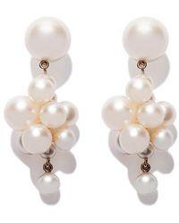Sophie Bille Brahe - 18kt Yellow Gold Botticelli Pearl Earrings - Lyst