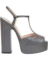 Fendi - Strappy Platform Sandals - Lyst