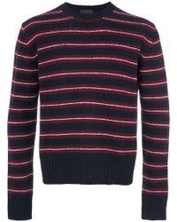 083c9672f23c Lyst - Pull rayé Shetland Prada pour homme en coloris Rouge