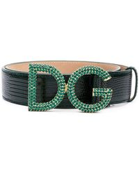 Lyst - Ceinture Princess à ornements Dolce   Gabbana en coloris Noir 853ee7e391d