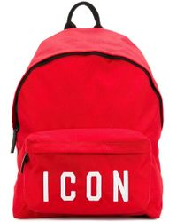 DSquared² - Icon Patches Nylon Canvas Backpack - Lyst