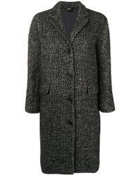Aspesi - Tweed Fitted Coat - Lyst