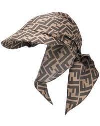 Fendi - Gorra estilo bandana con motivo Zucca - Lyst 464f4bc6f68