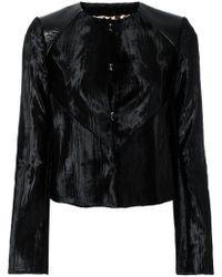 Just Cavalli - Velvet Fitted Jacket - Lyst