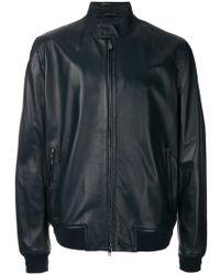 Corneliani | Zipped Biker Jacket | Lyst