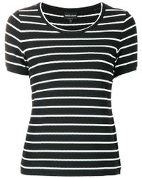 Giorgio Armani - Striped T-shirt - Lyst