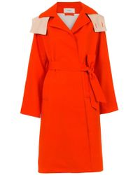 Egrey - Belted Trench Coat - Lyst