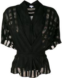 Lala Berlin - Sheer Short-sleeve Blouse - Lyst