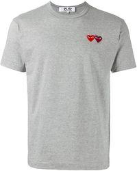 Play Comme des Garçons - Double Heart T-shirt - Lyst