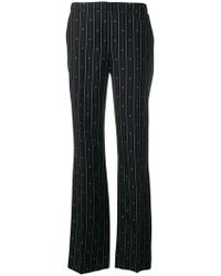 ESCADA - Striped Jacquard Trousers - Lyst