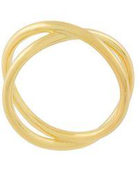 Eshvi - Double Band Ring - Lyst