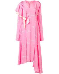 Natasha Zinko - Printed Asymmetric Dress - Lyst