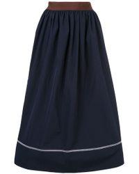 Marni - Contrast Piping Midi Skirt - Lyst