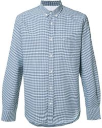 Officine Generale - Gingham Check Shirt - Lyst