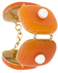 Marni - Faux Pearl-embellished Cuff Bracelet - Lyst