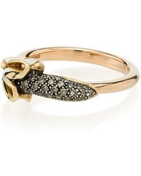 Bibi Van Der Velden - 18k Rose Gold Monkey Banana Diamond Ring - Lyst