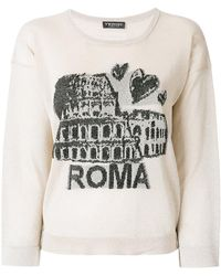 Twin Set | Roma Embroidered Sweater | Lyst