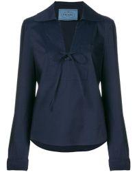 Prada - Tailleur pantalon crop - Lyst