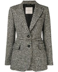 Ermanno Scervino - Houndstooth Check Fitted Jacket - Lyst