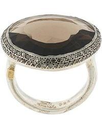 Rosa Maria - Smokey Quartz And Diamond Ring - Lyst