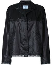 Prada - Sheen Lace Trim Jacket - Lyst