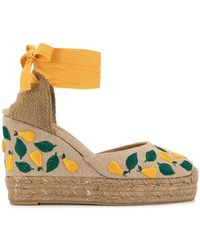 494d9bd78b1 Lyst - MICHAEL Michael Kors Fisher Palm Embroidered Wedges in Brown