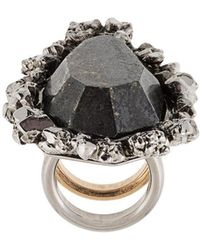 Alexander McQueen - Oversized Stone Ring - Lyst