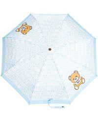 Moschino - Teddybear Logo Print Umbrella - Lyst