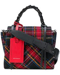 Elena Ghisellini - Angel S Plaid Tote - Lyst
