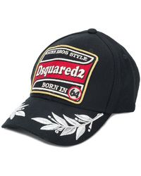 a3e28e81acc DSquared² My Name Is Caten Baseball Cap in Black for Men - Lyst