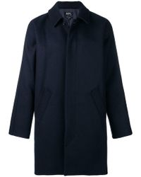 A.P.C. - Boxy Single-breasted Coat - Lyst
