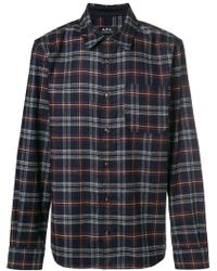 A.P.C. - Attic Checked Wool-blend Shirt - Lyst