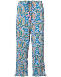 Figue - Paisley Print Cropped Trousers - Lyst