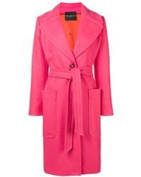Erika Cavallini Semi Couture - Belted Coat - Lyst