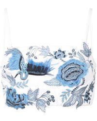 Josie Natori - Embroidered Bralet - Lyst