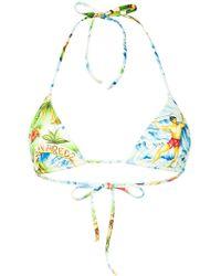 DSquared² - Printed Triangle Bikini Top - Lyst