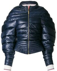Thom Browne - Downfill Hooded Jacket With Center Front Zip In Ripstop - Lyst