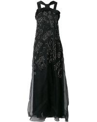 John Richmond - Stud Embellished Maxi Gown - Lyst