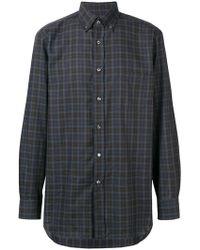 Brioni - Button-down Checked Shirt - Lyst
